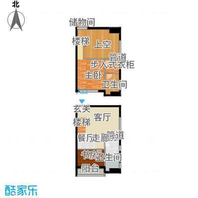 铂林国际公寓55.87㎡C01面积5587m户型