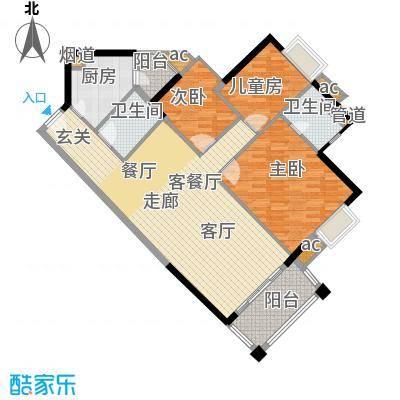 马赛国际公寓111.00㎡D座08单位面积11100m户型