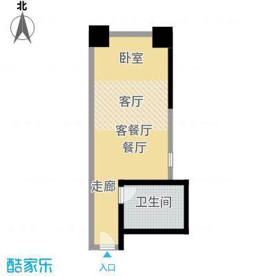 马赛国际公寓45.00㎡B座05单位面积4500m户型