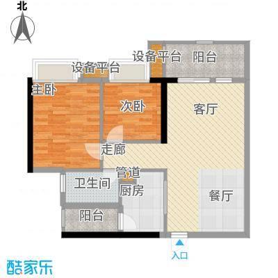 富力院士庭74.24㎡B2栋c04面积7424m户型