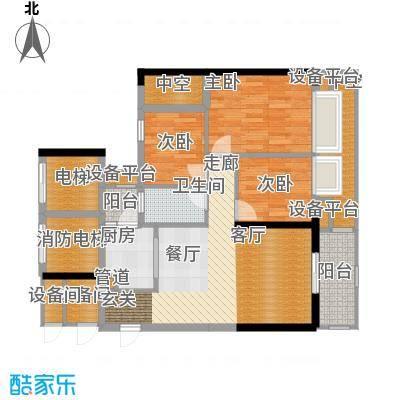 富力院士庭92.32㎡b03面积9232m户型