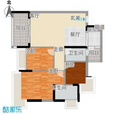广州雅居乐花园浅山小筑95.00㎡面积9500m户型