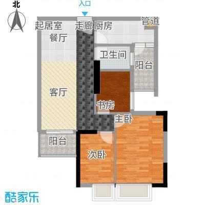 英豪花园84.57㎡A2栋4-28层063面积8457m户型