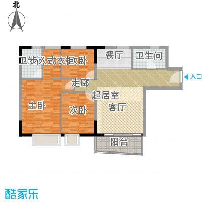 英豪花园107.45㎡A2栋4-28层083面积10745m户型