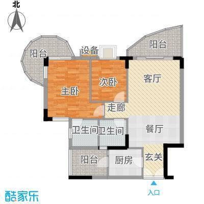 云峰花园93.17㎡云雅阁6栋01单元面积9317m户型