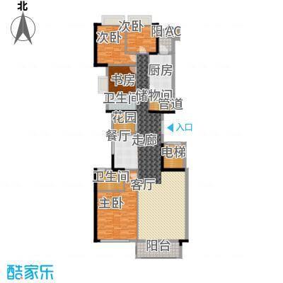 隽峰苑165.88㎡A3-02单元4室面积16588m户型