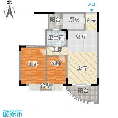 云峰花园91.57㎡2面积9157m户型