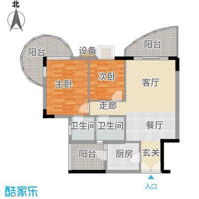 云峰花园91.33㎡云尚阁3栋01单元面积9133m户型
