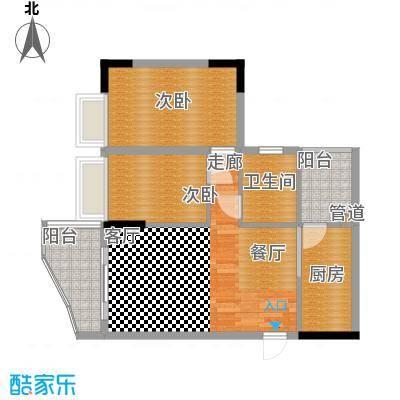海龙湾75.96㎡星云轩1座503面积7596m户型