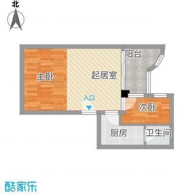 豪景花园54.00㎡乐涛轩01单元2面积5400m户型
