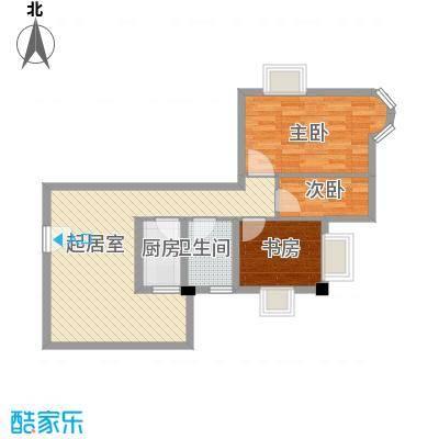 豪景花园79.40㎡乐雅轩03单元2面积7940m户型