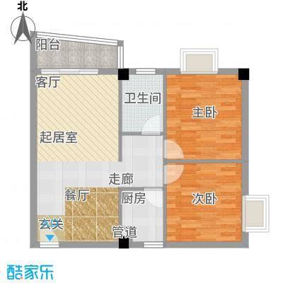 云景花园云枫苑67.00㎡户面积6700m户型