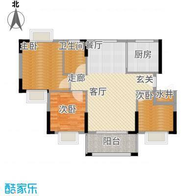 莲花湾畔89.28㎡4梯2号层面积8928m户型