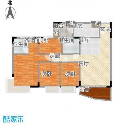 海龙湾126.31㎡水明轩1梯2-10层面积12631m户型