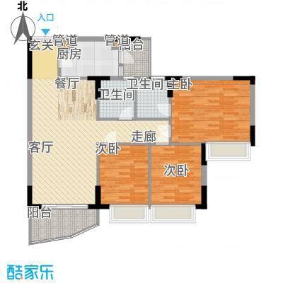 海龙湾99.08㎡水溢轩1梯1-10层面积9908m户型