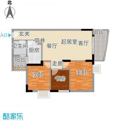 怡新花园1号梯03单元12层两户型