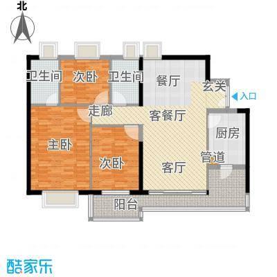 荷塘月色126.06㎡星瑞居B栋三层3面积12606m户型