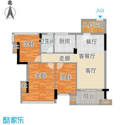 雅居乐七里海99.00㎡2栋、3栋02面积9900m户型