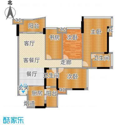 雅居乐七里海135.00㎡1栋06单位面积13500m户型