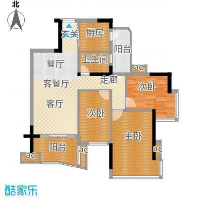 雅居乐七里海99.00㎡1栋301单位面积9900m户型