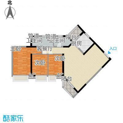 锦城花园144.00㎡3面积14400m户型