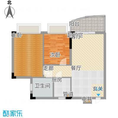 金碧御水山庄75.00㎡面积7500m户型