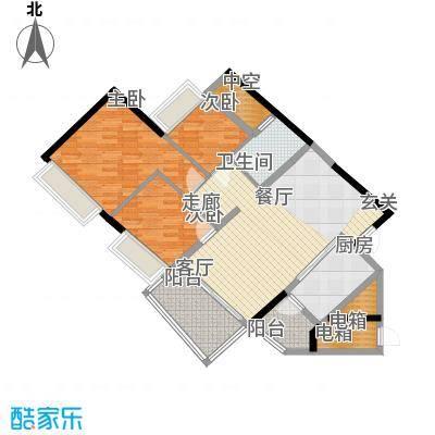 盈彩美居93.85㎡菁�轩1座A单位面积9385m户型