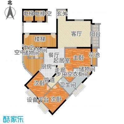 华标涛景湾203.67㎡二期01栋01单面积20367m户型