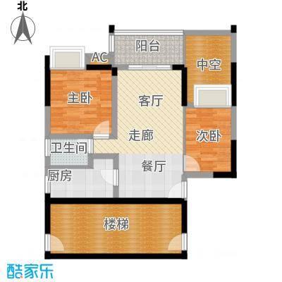 中海花城湾83.50㎡A1栋6-23层05面积8350m户型