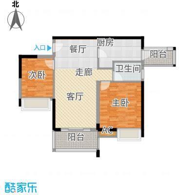 中海花城湾83.40㎡A1栋6-23层02面积8340m户型