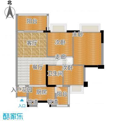盈彩美居89.54㎡菁晖轩2座B单位面积8954m户型