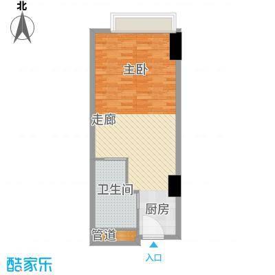 富力盈丰大厦52.30㎡一居公寓1面积5230m户型