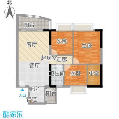 富力广场92.00㎡S3栋5-22层06单面积9200m户型