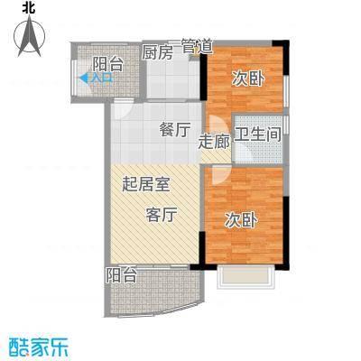 富力广场83.00㎡S3栋5-22层01单面积8300m户型