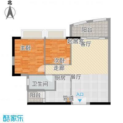 富力广场81.00㎡S2栋5-13层05单面积8100m户型