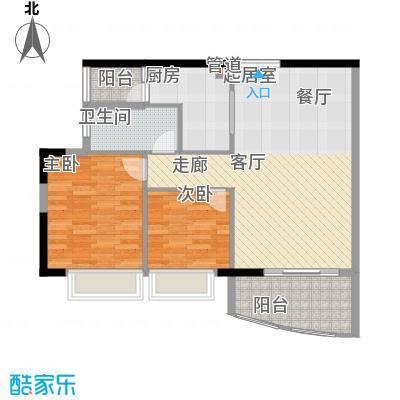 富力广场81.00㎡S2栋5-13层02单面积8100m户型