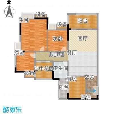 白云明珠广场158.00㎡面积15800m户型