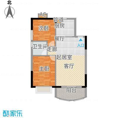 富力广场85.00㎡S2栋14-18层03单面积8500m户型