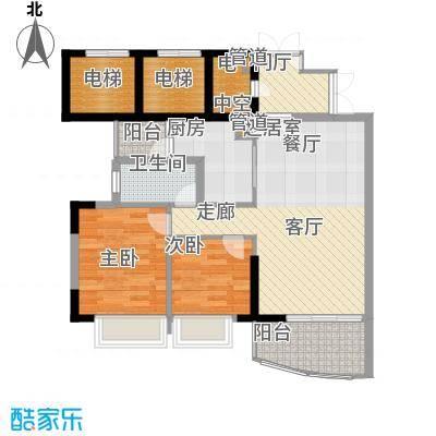 富力广场81.00㎡S3栋5-22层02单面积8100m户型