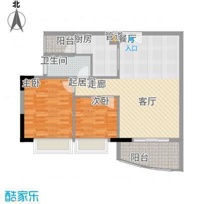 富力广场81.00㎡S2栋14-18层02单面积8100m户型