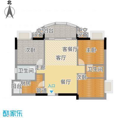 广州白天鹅花园103.27㎡F2栋2层3面积10327m户型