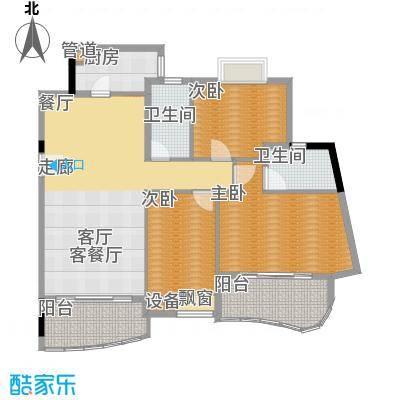 广州白天鹅花园126.86㎡F3栋2层1面积12686m户型