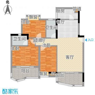 广州白天鹅花园123.52㎡F3栋2层2面积12352m户型