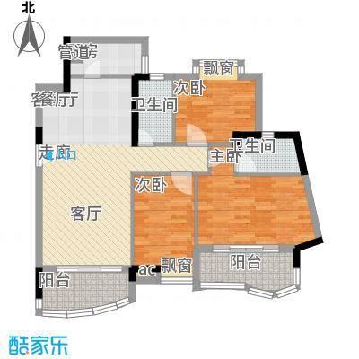 广州白天鹅花园128.23㎡F3栋8层1面积12823m户型