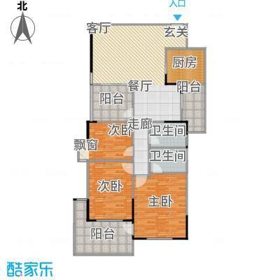 万科蓝山123.50㎡A12-06单元3室面积12350m户型