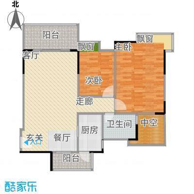万科蓝山85.38㎡A12-01单元2室面积8538m户型