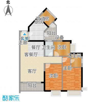 金碧领秀国际136.20㎡D6栋01栋平面积13620m户型