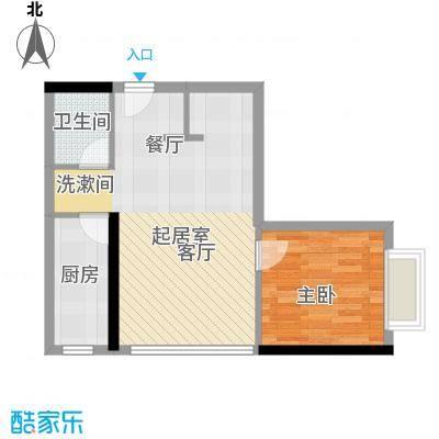 天惠嘉园48.44㎡14单元1室1面积4844m户型