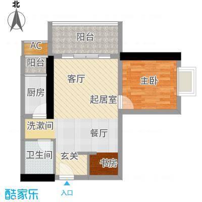 天惠嘉园55.47㎡09单元1室1面积5547m户型