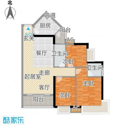 金碧新城106.02㎡40号2-23层A面积10602m户型